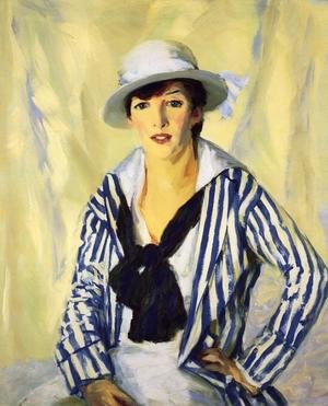 Reproduction oil paintings - Robert Henri - Viv In Blue Stripe
