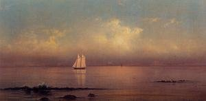 Famous paintings of Ships & Boats: Becalmed  Long Island Sound