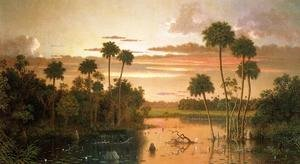 Famous paintings of Nautical: The Great Florida Sunset