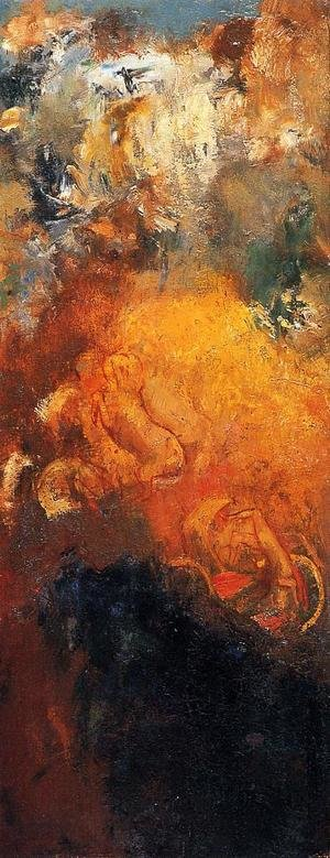 Reproduction oil paintings - Odilon Redon - Apollos Chariot2