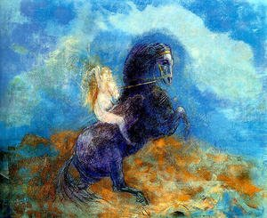 Reproduction oil paintings - Odilon Redon - Brunhild Aka The Valkyrie