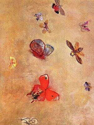 Reproduction oil paintings - Odilon Redon - Butterflies