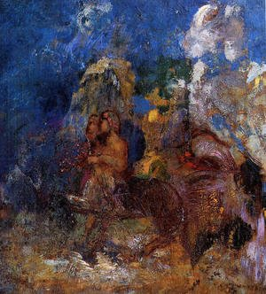 Reproduction oil paintings - Odilon Redon - Centaurs