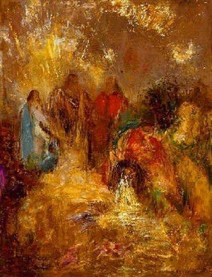 Reproduction oil paintings - Odilon Redon - Christ And His Desciples