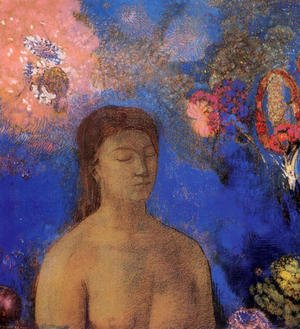 Reproduction oil paintings - Odilon Redon - Closed Eyes4