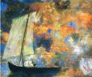 Reproduction oil paintings - Odilon Redon - Flower Clouds