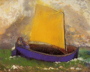 Reproduction oil paintings - Odilon Redon - The Mysterious Boat