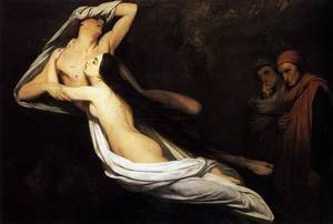 The Ghosts of Paolo and Francesca Appear to Dante and Virgil 1835