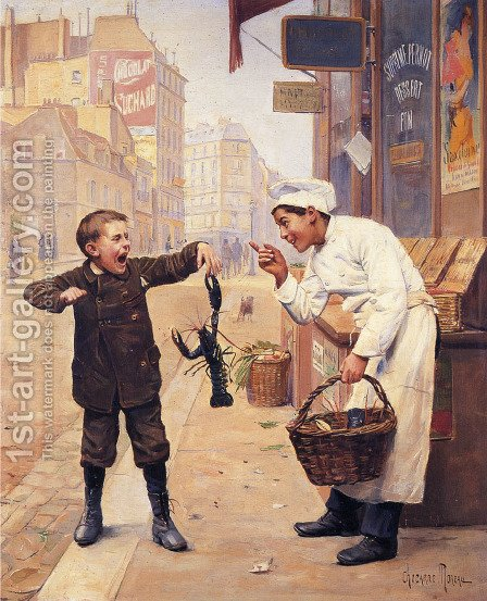 I Told You So by Paul Charles Chocarne-Moreau - Reproduction Oil Painting
