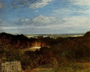 Realism painting reproductions: A View Towards The Seine From Suresnes
