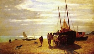 Realism painting reproductions: Beach At Trouville