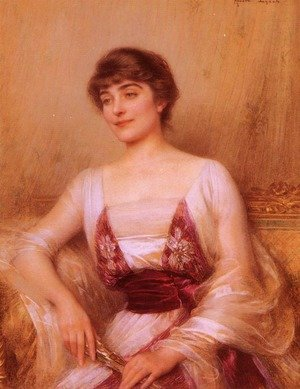 Albert Lynch reproductions - A Lady With A Fan