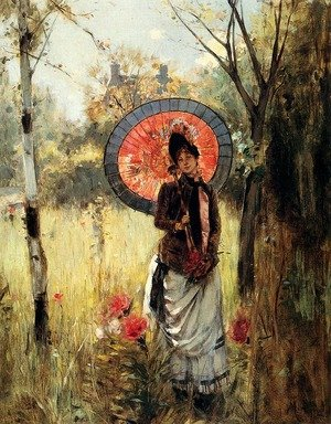 Reproduction oil paintings - Albert Lynch - A Summer Stroll