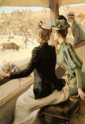 Reproduction oil paintings - Albert Lynch - At The Bullfight