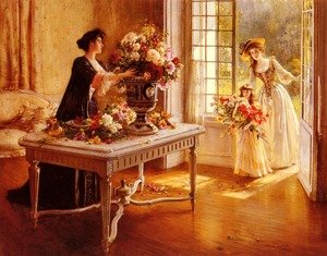 Reproduction oil paintings - Albert Lynch - Fresh From The Garden