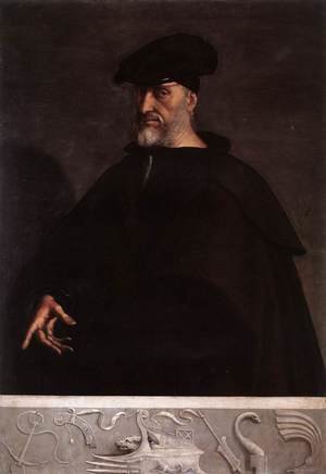 Mannerism painting reproductions: Portrait of Andrea Doria c. 1526