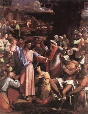 Mannerism painting reproductions: The Raising of Lazarus 1517-19
