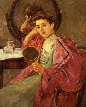 Reproduction oil paintings - Mary Cassatt - Antoinette At Her Dressing Table