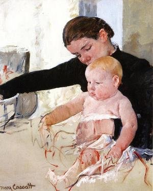 Reproduction oil paintings - Mary Cassatt - Bathing The Young Heir