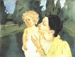 Reproduction oil paintings - Mary Cassatt - By The Pond