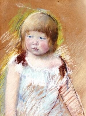 Reproduction oil paintings - Mary Cassatt - Child With Bangs In A Blue Dress