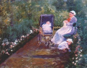 Reproduction oil paintings - Mary Cassatt - Children In A Garden