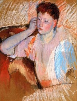 Reproduction oil paintings - Mary Cassatt - Clarissa  Turned Left  With Her Hand To Her Ear