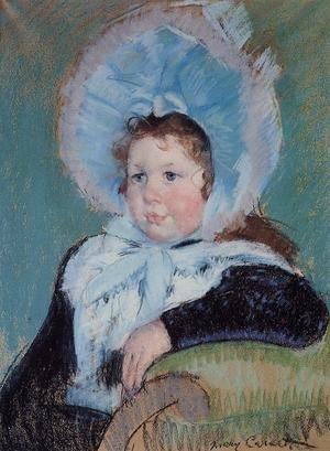 Reproduction oil paintings - Mary Cassatt - Dorothy In A Very Large Bonnet And A Dark Coat