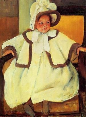 Reproduction oil paintings - Mary Cassatt - Ellen Mary Cassatt In A White Coat