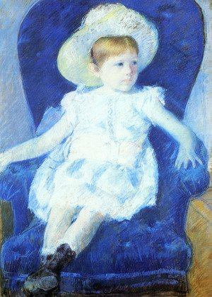 Reproduction oil paintings - Mary Cassatt - Elsie In A Blue Chair