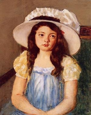 Reproduction oil paintings - Mary Cassatt - Francoise Wearing A Big White Hat