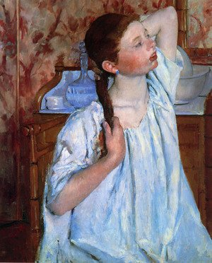 Reproduction oil paintings - Mary Cassatt - Girl Arranging Her Hair