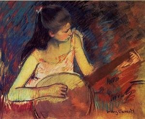 Reproduction oil paintings - Mary Cassatt - Girl With A Banjo