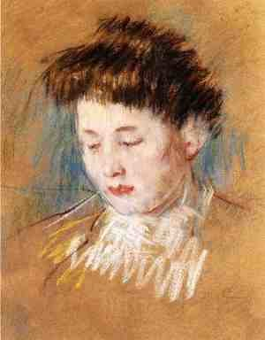 Reproduction oil paintings - Mary Cassatt - Head Of Julie  Looking Down