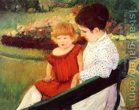 Mary Cassatt: In The Park - reproduction oil painting