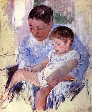 Reproduction oil paintings - Mary Cassatt - Jenny And Her Sleepy Child