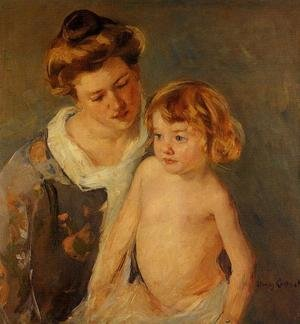 Reproduction oil paintings - Mary Cassatt - Jules Standing By His Mother