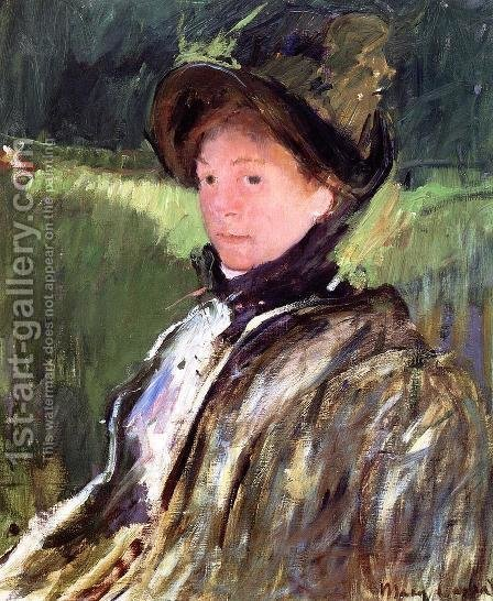 Mary Cassatt: Lydia Cassatt In A Green Bonnet And A Coat - reproduction oil painting