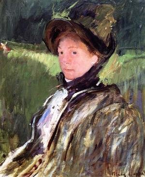 Reproduction oil paintings - Mary Cassatt - Lydia Cassatt In A Green Bonnet And A Coat
