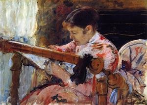 Reproduction oil paintings - Mary Cassatt - Lydia Seated At An Embroidery Frame