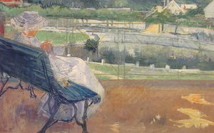 Reproduction oil paintings - Mary Cassatt - Lydia Seated On A Terrace  Crocheting