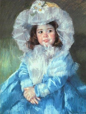 Reproduction oil paintings - Mary Cassatt - Margot In Blue