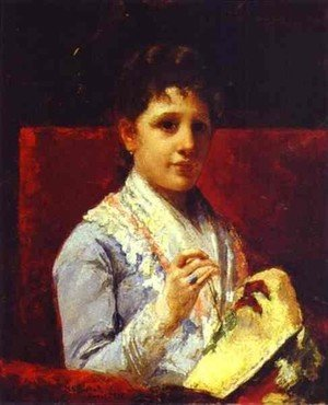 Reproduction oil paintings - Mary Cassatt - Mary Ellison Embroidering