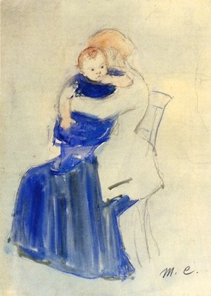 Reproduction oil paintings - Mary Cassatt - Mother And Child5
