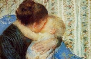 Reproduction oil paintings - Mary Cassatt - Mother And Child7