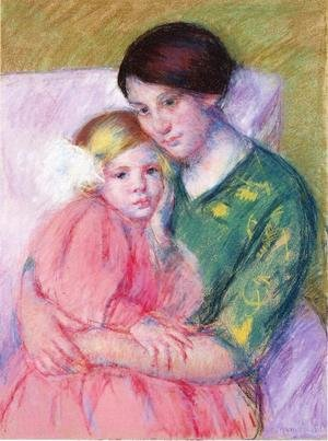 Reproduction oil paintings - Mary Cassatt - Mother And Child Reading