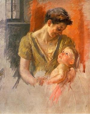 Reproduction oil paintings - Mary Cassatt - Mother And Child Smiling At Each Other