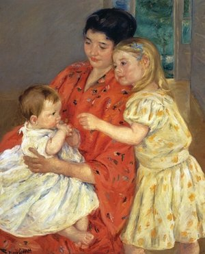 Reproduction oil paintings - Mary Cassatt - Mother And Sara Admiring The Baby