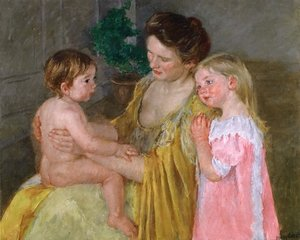 Reproduction oil paintings - Mary Cassatt - Mother And Two Children