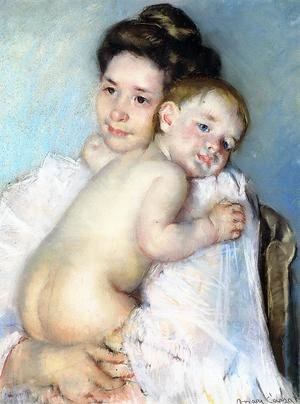 Reproduction oil paintings - Mary Cassatt - Mother Berthe Holding Her Baby